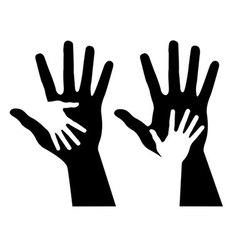 helping hands vector image