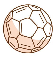 Soccer balloon isolated icon vector