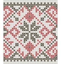 Ukrainian ethnic ornament - cross-stitch vector image