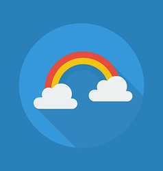 Weather Flat Icon Rainbow vector image vector image