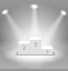 White business winners podium vector image