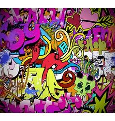 Graffiti wall art background vector image vector image