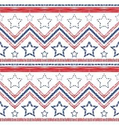 Tribal ethnic zig zag pattern vector