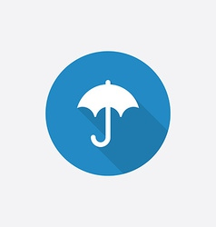 umbrella Flat Blue Simple Icon with long shadow vector image vector image