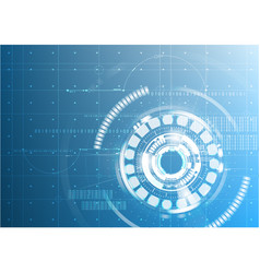 Abstract technological future interface digital vector