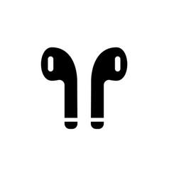 Airpods icon wireless earphones symbol vector