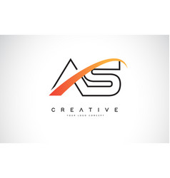 as a s swoosh letter logo design with modern vector image