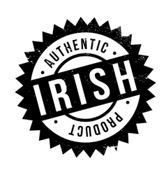 Authentic irish product stamp vector