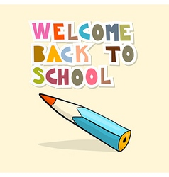 Back to school background with pencil vector