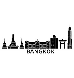 Bangkok architecture city skyline travel vector