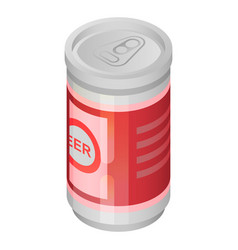 beer tin can icon isometric style vector image