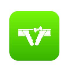 bikini icon green vector image