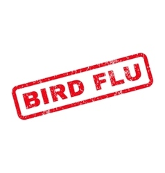 Bird Flu Text Rubber Stamp vector