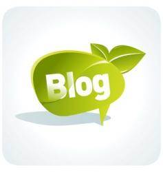 Blog element vector