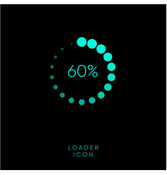 blue loading icon vector image