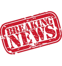 Breaking news stamp vector