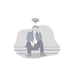 Business depression stress problem work vector