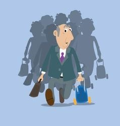 Businessman goes on a journey vector