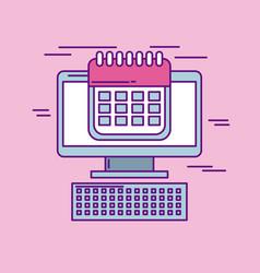 Buy online cyber monday calendar plan concept vector
