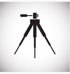 Camera tripod icon on white background for graphic vector