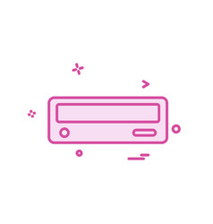 cd drive icon design vector image