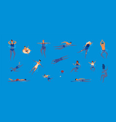collection of people dressed in swimwear in vector image
