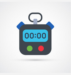 colored stopwatch trendy symbol vector image