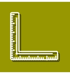 Corner ruler vector