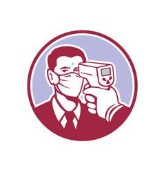 Coronavirus screening icon retro vector