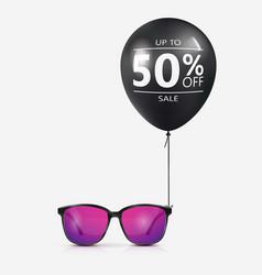 eyeglasses sale banner concept vector image