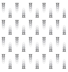 faded away gray colors cut triangle arrows pattern vector image