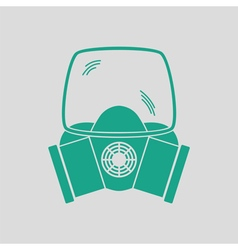 Fire mask icon vector