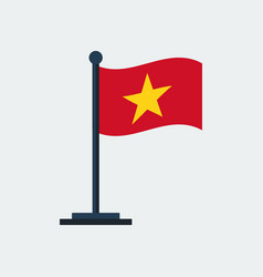flag of vietnam flag stand vector image