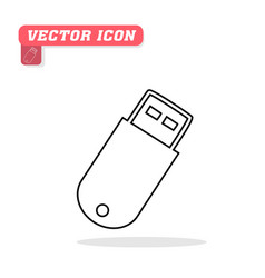 flash drive icon white background im vector image