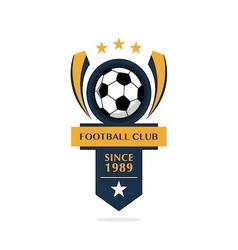 football Badge 4 vector image vector image