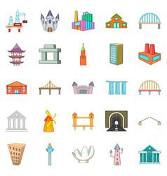 Framework icons set cartoon style vector