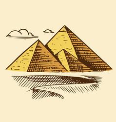 Great pyramid giza seven wonders the vector