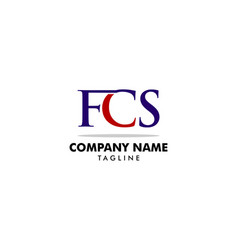 initial letter fcs logo template design vector image