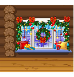 inside old cozy wooden village house home vector image