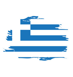 isolated greek flag vector image