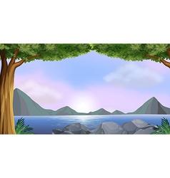 Lake vector image