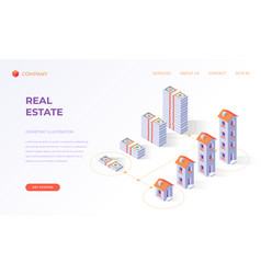 landing page for real estate financial digital vector image