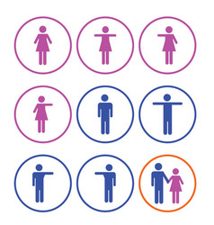 man and woman sign icon vector image