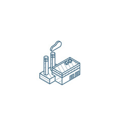 manufacture industrial factory building isometric vector image