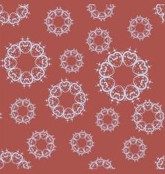 many mandalas random pattern vector image
