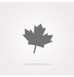 Maple leaf icon glassy web button Web Icon vector