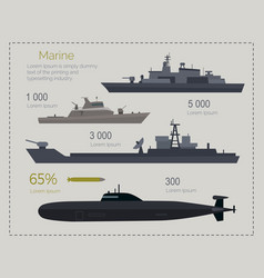 military navy flat infigraphics vector image