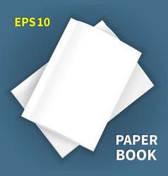 Mock-ups of paper books-15 vector