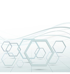 Modern hexagon fly geometrical background vector