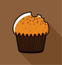 Muffin with seeds vector image
